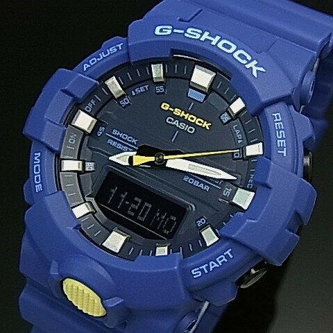 CASIO/G-SHOCK【カシオ/Gショック】アナデジモデル メンズ腕時計 ネイビー(国内正規品)GA-800SC-2AJF