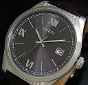 GUESS/BAXTER【ゲス/バクスター】メンズ腕時計 グレー文字盤 ブラウンレザーベルト【送料無料】W0874G1(国内正規品)
