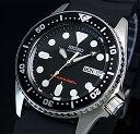 SEIKO/200m diver's watch【セイコー/200m防水ダイバーズ】自動巻 ボーイズ 腕時計 ブラックラバーベルト ブラック文…