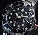 SEIKO/PROSPEX【セイコー/プロスペックス】メンズDIVER'S/ダイバーズウォッチソーラー腕時計メタルベルトブラック文字盤海外モデルSNE437P1