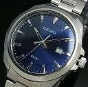 SEIKO/Quartz【セイコー/クォーツ】メンズ腕時計 メタルベルト ネイビー文字盤 海外モデル SUR207P1