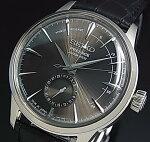 SEIKO/Presageメカニカル【セイコー/プレサージュ】パワーリザーブ付自動巻メンズ腕時計ダークブラウン文字盤ブラックレザーベルトMadeinJapan海外モデルSSA345J1