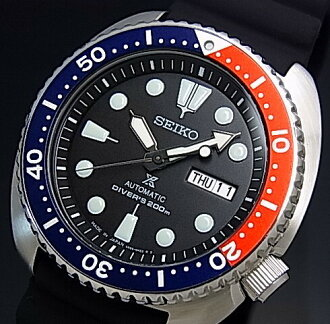SEIKO/PROSPEX/Diver's watch Automatic navy / red bezel Men's watch Rubber strap black Dial MADE IN JAPN reverse import model SRP779J1