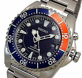 SEIKO/KINETIC【セイコー/キネテック】ダイバーズ メンズ腕時計 ネイビー文字盤 メタルベルト SKA759P1 海外モデル【並行輸入品】