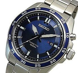 SEIKO/KINETIC【セイコー/キネテック】メンズ腕時計 ネイビー文字盤 メタルベルト 海外モデル【並行輸入品】 SKA783P1