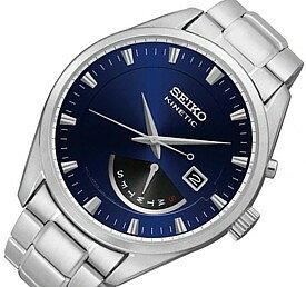 SEIKO/KINETIC【セイコー/キネテック】メンズ腕時計 レトログラード メタルベルト ネイビー文字盤 海外モデル【並行輸入品】 SRN047P1