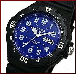 CASIO/Standard模擬石英人手錶橡膠皮帶深藍表盤海外型號MRW-200H-2B2