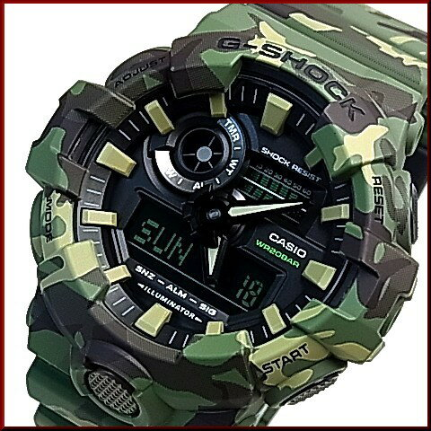 CASIO/G-SHOCK【カシオ/Gショック】アナデジ メンズ腕時計 グリーンカモフラージュ(国内正規品)GA-700CM-3AJF