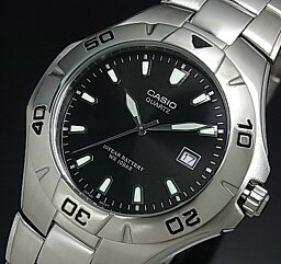 CASIO/Standard人手錶黑色表盤金屬皮帶(國內正規的物品)MTD-1044A-1AJF