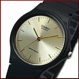 CASIO人手錶模擬石英香檳黄金表盤黑色橡膠皮帶(國內正規的物品)MQ-24-9ELJF