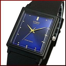CASIO/Standard模擬石英人手錶橡膠皮帶深藍/黄金表盤海外型號MQ-38-2A