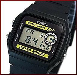 CASIO/Standard警報計時儀人手錶男孩尺寸輕量、薄型的數碼的液晶型號黑色橡膠皮帶(國內正規的物品)F-94WA-9JF