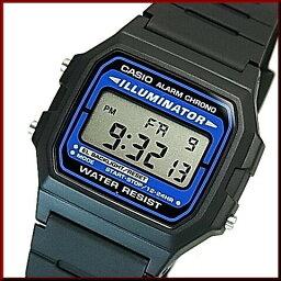 CASIO/Standard警報計時儀人手錶男孩尺寸輕量、薄型的數碼的液晶型號黑色橡膠皮帶(國內正規的物品)F-105W-1A