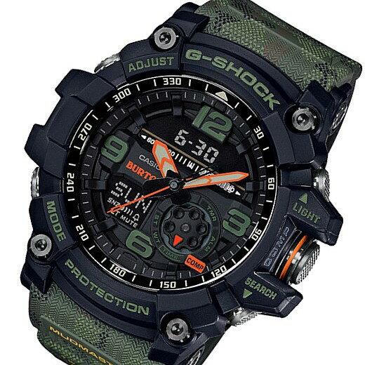 CASIO/G-SHOCK【カシオ/Gショック】MUDMASTER/マッドマスター BURTONコラボレーションモデル メンズ腕時計 モスグリーンカモフラージュ(国内正規品)GG-1000BTN-1AJR