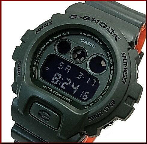 CASIO/G-SHOCK【カシオ/Gショック】Military Color / ミリタリーカラー グリーン/オレンジ メンズ腕時計(国内正規品)DW-6900LU-3JF
