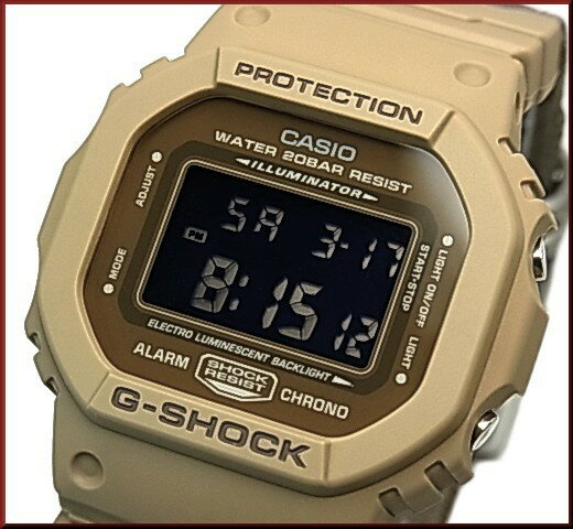 CASIO/G-SHOCK【カシオ/Gショック】メンズ腕時計 Military Color / ミリタリーカラー ブラウン(国内正規品)DW-5600LU-8JF