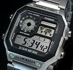 CASIO/Standard【カシオ/スタンダード】デジタル世界地図表示ワールドタイムメンズ腕時計メタルベルト海外モデル【並行輸入品】AE-1200WHD-1A