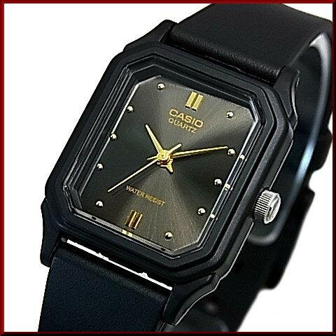 CASIO/Standard【カシオ/スタンダード】アナログクォーツ レディース腕時計 ラバーベルト ガンメタ/ゴールド文字盤 海外モデル【並行輸入品】LQ-142E-1A