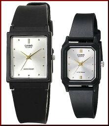 CASIO/Standard模擬石英一對表手錶橡膠皮帶銀子/黄金表盤海外型號MQ-38-7A/LQ-142E-7A