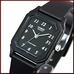 CASIO/Standard模擬石英女士手錶橡膠皮帶黑色表盤海外型號LQ-142-1B