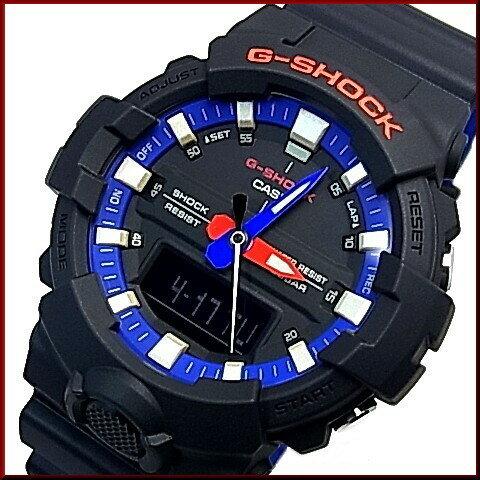 CASIO/G-SHOCK【カシオ/Gショック】アナデジモデル メンズ腕時計 ブラック/トリコロール(国内正規品)GA-800LT-1AJF