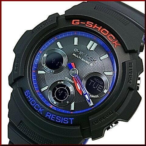 CASIO/G-SHOCK【カシオ/Gショック】アナログデジタルコンビモデル ソーラー電波腕時計 メンズ ブラック/トリコロール(国内正規品)AWG-M100SLT-1AJF