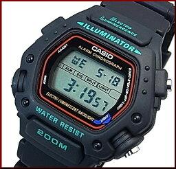 CASIO/Standard警報計時儀人手錶200M防水數碼液晶型號黑色橡膠皮帶海外型號DW-290-1VS