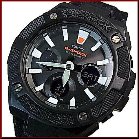 CASIO/G-SHOCK【カシオ/Gショック】G-STEEL/Gスチール ソーラー電波腕時計 メンズ ブラック文字盤 ブラッククロス&タフレザーベルト(国内正規品)GST-W130BC-1AJF