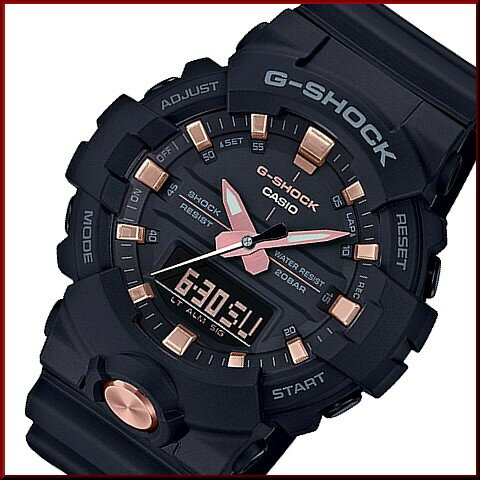 CASIO/G-SHOCK【カシオ/Gショック】アナデジモデル メンズ腕時計 ブラック/ピンクゴールド(国内正規品)GA-810B-1A4JF