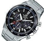 CASIO/EDIFICE【カシオ/エディフィス】ソーラー腕時計クロノグラフメンズブラック(カーボンファイバー)文字盤メタルベルト海外モデル【並行輸入品】EQS-800CDB-1AV