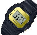 CASIO/G-SHOCK【カシオ/Gショック】MetallicMirrorFace/メタリック・ミラーフェイスベーシックモデルメンズ腕時計ブラック/ゴールドDW-5600BBMB-1海外モデル【並行輸入品】