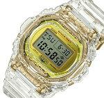 【訳あり外箱凹みキズ有】CASIO/G-SHOCK【カシオ/Gショック】メンズ腕時計35周年記念限定モデルGLACIERGOLD/グレイシアゴールドクリアスケルトン海外モデル【並行輸入品】DW-5735E-7