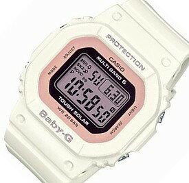 CASIO/Baby-G【カシオ/ベビーG】ソーラー電波腕時計 レディース ホワイト/ライトピンク(国内正規品)BGD-5000-7DJF