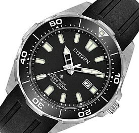 CITIZEN/PROMASTER【シチズン/プロマスター】メンズ腕時計 エコドライブ ダイバーズウォッチ ブラック文字盤 ブラックラバーベルト海外モデル【並行輸入品】BN0200-05E