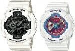 CASIO/G-SHOCK/Baby-G【カシオ/Gショック/ベビーG】ペアウォッチアナデジ腕時計ホワイト(海外モデル)GA-110GW-7A/BA-112-7A