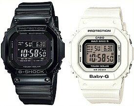 CASIO/G-SHOCK/Baby-G【カシオ/Gショック/ベビーG】ペアウォッチ ソーラー電波腕時計 ブラック/ホワイト GW-M5610BB-1JF/BGD-5000-7JF(国内正規品)