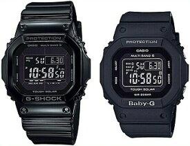 CASIO/G-SHOCK/Baby-G【カシオ/Gショック/ベビーG】ペアウォッチ ソーラー電波腕時計 ブラック GW-M5610BB-1JF/BGD-5000MD-1JF(国内正規品)
