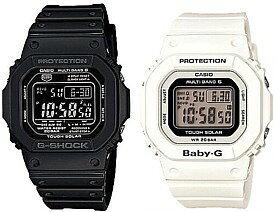 CASIO/G-SHOCK/Baby-G【カシオ/Gショック/ベビーG】ペアウォッチ ソーラー電波腕時計 ブラック/ホワイト(国内正規品)GW-M5610-1BJF/BGD-5000-7JF