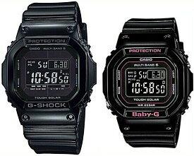 CASIO/G-SHOCK/Baby-G【カシオ/Gショック/ベビーG】ペアウォッチ ソーラー電波腕時計 ブラック GW-M5610BB-1JF/BGD-5000-1JF(国内正規品)