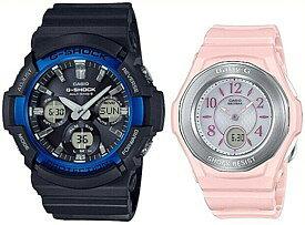 CASIO/G-SHOCK/Baby-G【カシオ/Gショック/ベビーG】ペアウォッチ ソーラー電波腕時計 ブラック/ピンク (国内正規品)GAW-100B-1A2JF/BGA-1050-4BJF