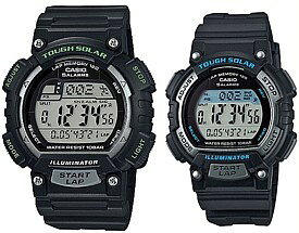 CASIO/SPORTS GEAR【カシオ/スポーツギア】ペアウォッチ ソラー腕時計 ラバーベルト ブラック(国内正規品)STL-S100H-1AJF/STL-S300H-1AJF