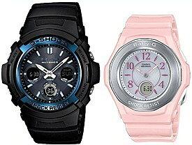 CASIO/G-SHOCK/Baby-G【カシオ/Gショック/ベビーG】ペアウォッチ ソーラー電波腕時計 ブラック/ピンク AWG-M100A-1AJF/BGA-1050-4BJF(国内正規品)