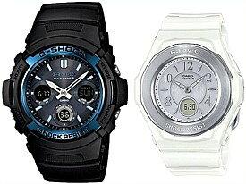CASIO/G-SHOCK/Baby-G【カシオ/Gショック/ベビーG】ペアウォッチ ソーラー電波腕時計 ブラック/ホワイト AWG-M100A-1AJF/BGA-1050-7BJF(国内正規品)