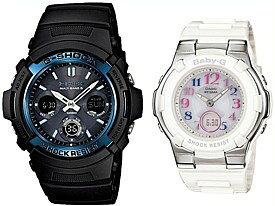 CASIO/G-SHOCK/Baby-G【カシオ/Gショック/ベビーG】ペアウォッチ ソーラー電波腕時計 ブラック/ホワイト(国内正規品)AWG-M100A-1AJF/BGA-1100GR-7BJF