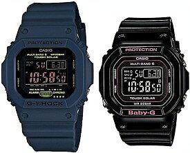 CASIO/G-SHOCK/Baby-G【カシオ/Gショック/ベビーG】ペアウォッチ ソーラー電波腕時計 ネイビー/ブラック GW-M5610NV-2JF/BGD-5000-1JF(国内正規品)