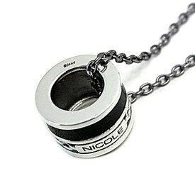 NICOLE/Silver accessory【ニコル/シルバーアクセ】レザー&チェーンリングトップネックレス【送料無料】NC-LE220N(国内正規品)