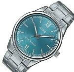 CASIO/Standard【カシオ/スタンダード】メンズ腕時計グリーン文字盤メタルベルト海外モデル【並行輸入品】MTP-V005D-3B