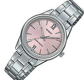 CASIO/Standard【カシオ/スタンダード】レディース腕時計 ピンク文字盤 メタルベルト 海外モデル【並行輸入品】LTP-V005D-4B2