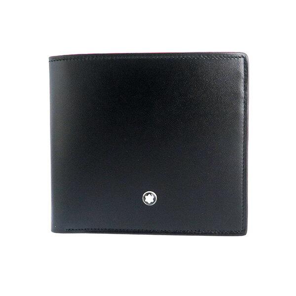 【送料無料】モンブラン MONTBLANC マイスターシュテュック 短財布 7163 ブラック