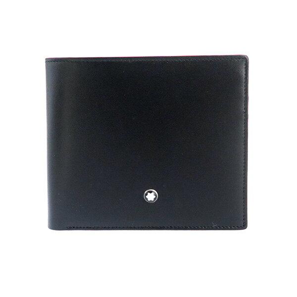 【送料無料】モンブラン MONTBLANC マイスターシュテュック 短財布 7164 ブラック